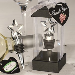 Chrome Star Design Bottle Stopper image