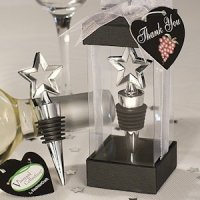 Chrome Star Design Bottle Stopper