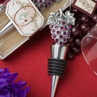 Sparkling Grapes Wine Themed Wedding Favor Stoppers