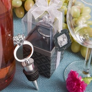 Diamond Ring Bottle Stopper Wedding Favors image