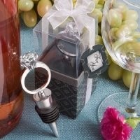 Diamond Ring Bottle Stopper Wedding Favors