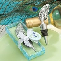 Peacock Wedding Favor Bottle Stoppers
