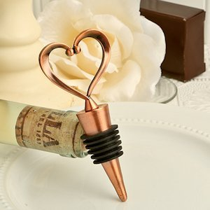 Vintage 'One Love- One Heart' Bottle Stopper Favors image