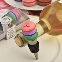 Macaron Wine Bottle Stopper Favors