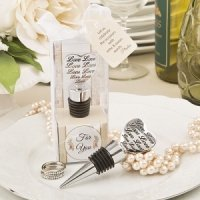 Love Engraved Heart Bottle Stoppers