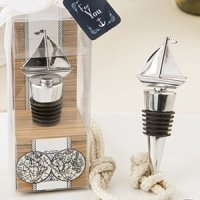 Silver Ship Bottle Stopper Nautical Wedding Favors