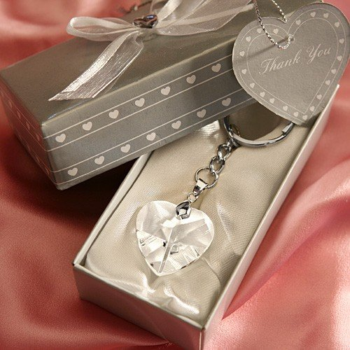 Crystal heart key chain wedding party favors boxed favor shown junglespirit Gallery