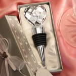 Crystal Heart Bottle Stopper Wedding Favor