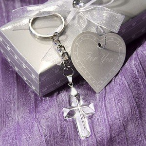 Choice Crystal Cross Keychain Favors image
