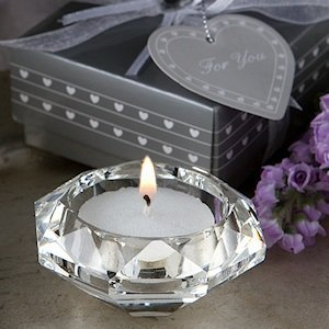 Choice Crystal Diamond Shaped Candle Wedding Favors image