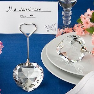 Choice Crystal Heart Shaped Escort Card Holders image