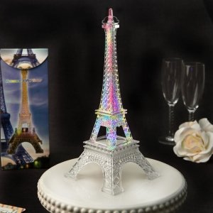 Eiffel Tower Centerpiece with Colorful LED Lights image