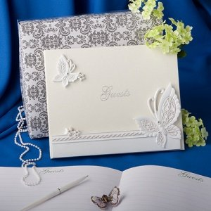 Fluttering Butterflies Themed Guest Book image