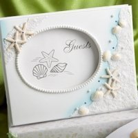 Shimmering Starfish Wedding Guest Book