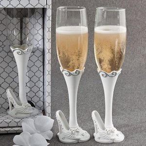Fairy Tale Slipper Wedding Toasting Flutes image