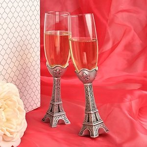 Eiffel Tower Wedding Toasting Flutes image