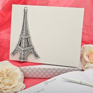 Eiffel Tower Wedding Guest Book image