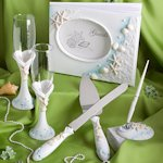 Shimmering Starfish Beach Wedding Accessory Set