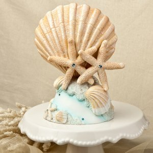 Life's a Beach Wedding Cake Topper image
