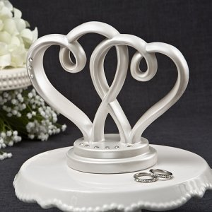 Interlocking Hearts Centerpiece or Cake Topper image