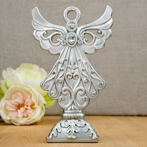 Stunning Silver Angel Statue image
