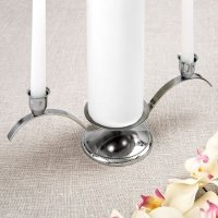 Classic Silver Unity Candle Stand