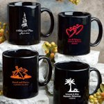 Personalized Black Wedding Coffee Mugs (50 Designs)