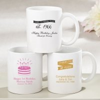 Personalized Birthday Design White Ceramic Coffee Mug Favors