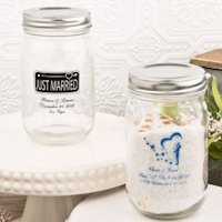 Personalized 16 Oz. Glass Mason Jar Wedding Favors