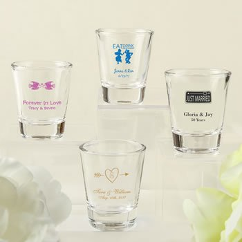DIY Wedding Design Screen Printed Shot Glass Favors image