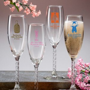 Sweet Celebrations Personalized Champagne Flutes image