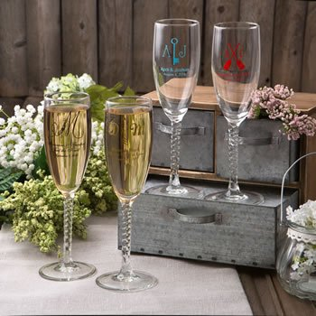 Monogram Collection Personalized Champagne Flutes image