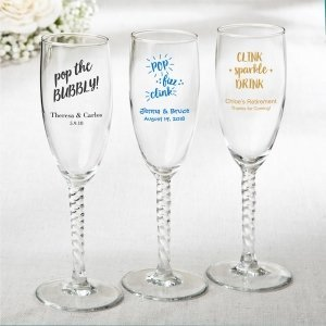 Personalized Celebrations Elegant Champagne Flute Favors image