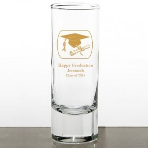 Personalized Graduation Favor Shot Glasses image