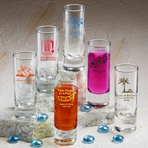 Personalized Shooter Wedding Favor Shot Glasses (50 Designs) image