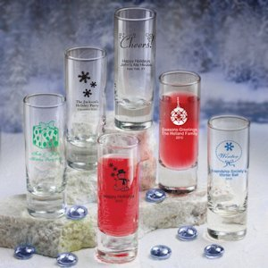Personalized Shooter Glass - Holiday Designs image