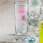 Personalized Sweet 15 Party Favor Shooter Glasses