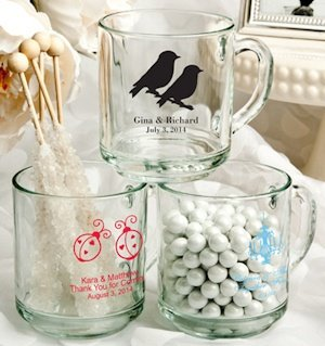 Glass Wedding Favor Mugs (50 Designs) image