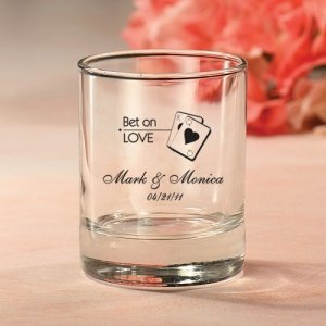Custom Las Vegas Theme Votive or Shot Glasses image