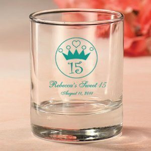 Personalized 15th Birthday Party Favor Candle Holders image
