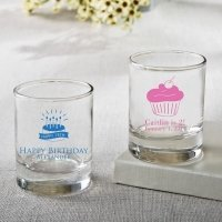 Personalized Birthday Design Shot Glass Or Votive Favors