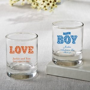Personalized Marquee Design Shot Glass Votive Favors image
