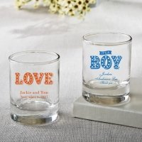 Personalized Marquee Design Shot Glass Votive Favors