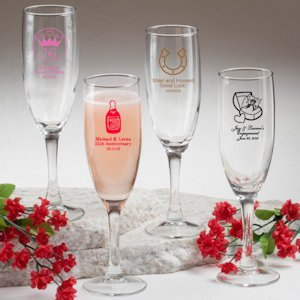 Sweet Celebrations Champagne Glass Favors image