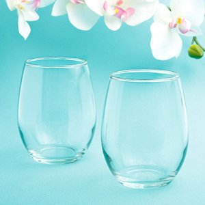 Perfectly Plain Stemless Wine Glass Favor image