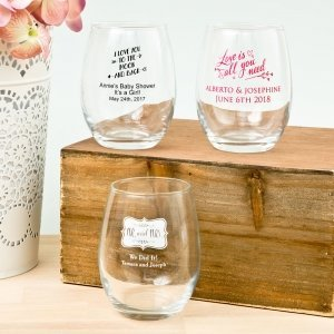 Expressions Collection 9oz Stemless Wine Glasses image