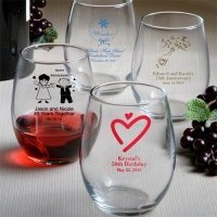 Custom Stemless Wine Glass (50 Designs) image