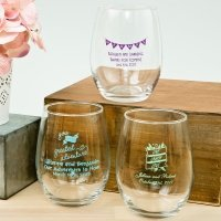 Expressions Collection 15oz Stemless Wine Glass Favors