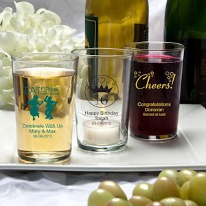 Silkscreened Glassware Collection Bistro Glasses image