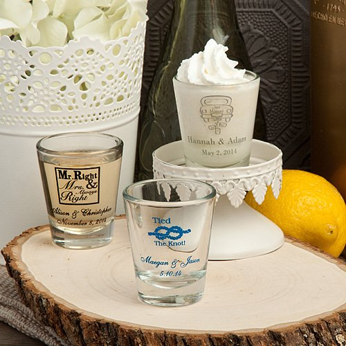 shot glasses wedding favors many designs